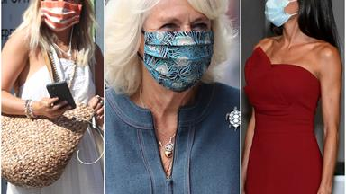 A sign of the times: Royals are putting their best face forward... by covering them up