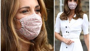Duchess Catherine glows behind an ultra stylish face mask as she makes a surprise visit to local charity