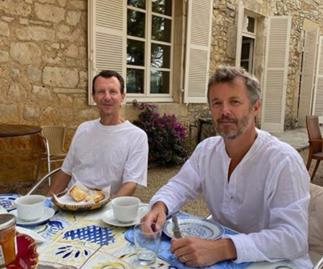 RARE PIC: Prince Frederik with brother Prince Joachim who is recovering from emergency brain surgery