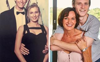Karl Stefanovic looks identical to his son Jackson in this amazing new throwback photo from his school formal