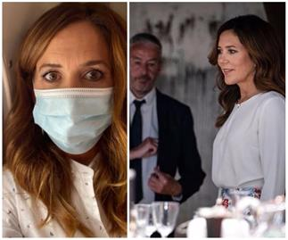 """Crown Princess Mary issues an apology for """"slip up"""" on health regulations as she dons a face mask"""