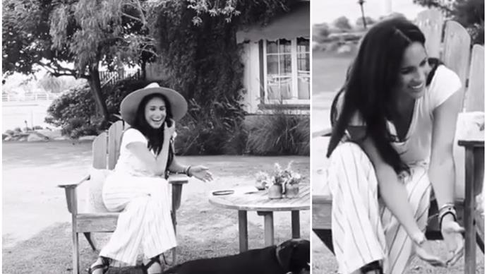 """Gorgeous new video of Duchess Meghan at her new house (with her dogs!) surfaces: """"I'm so glad to be home"""""""