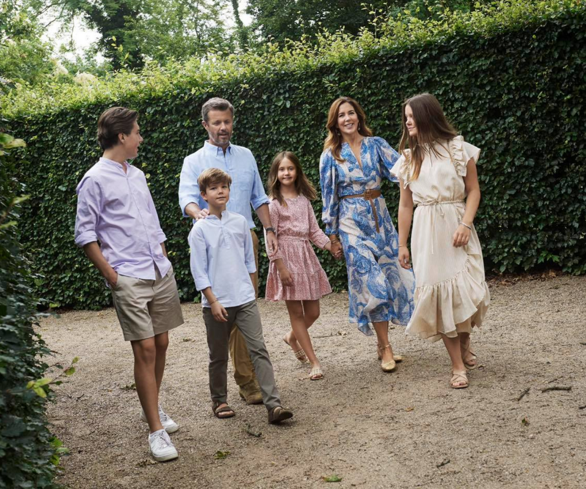 Princess Frederick and Princess Mary are the picture of romance in rare new family photos from their summer holiday
