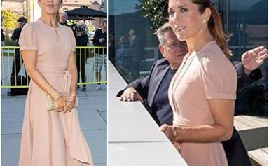 Crown Princess Mary just stepped out in the perfect pink dress as she returns from her summer holidays
