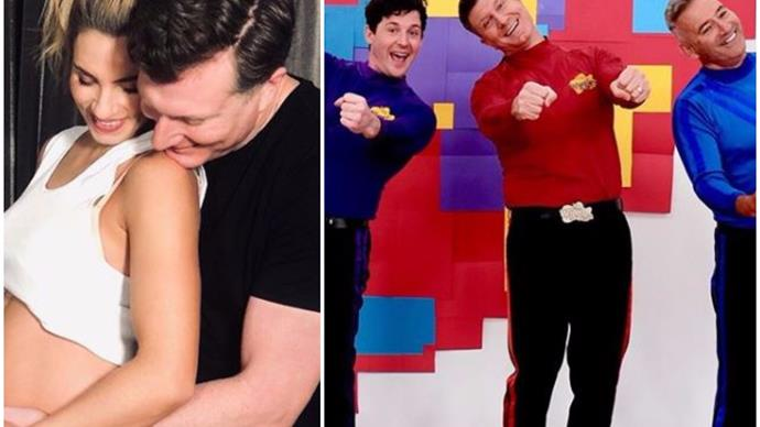 The Wiggles' Simon Pryce announces he and wife Lauren Hannaford are expecting their first baby
