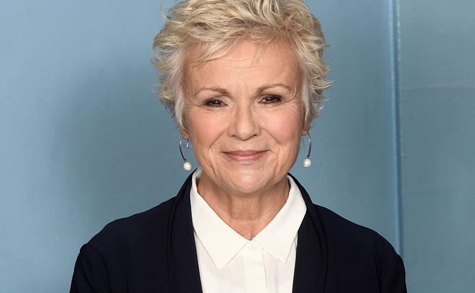 EXCLUSIVE: Dame Julie Walters smelling the roses
