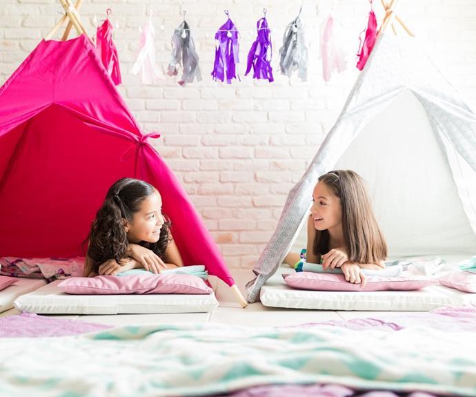 School holidays indoor fort
