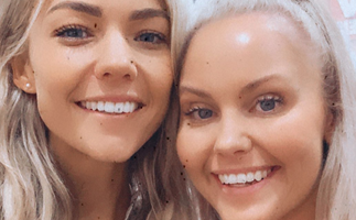 Farmer Wants A Wife star Nikki Warren reveals she's joined Home And Away in a sweet snap with Sam Frost