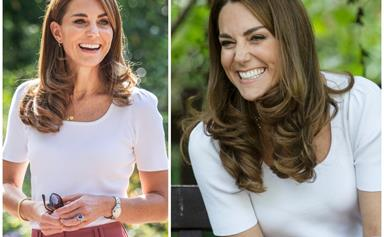 Duchess Catherine recycles her favourite pink pants from an affordable High Street brand, so naturally, we're buying our own immediately