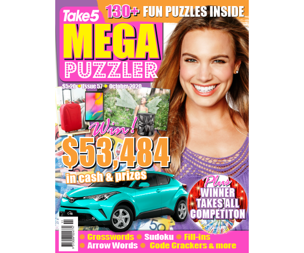 Take 5 Mega Puzzler Issue 57 Online Entry Coupon