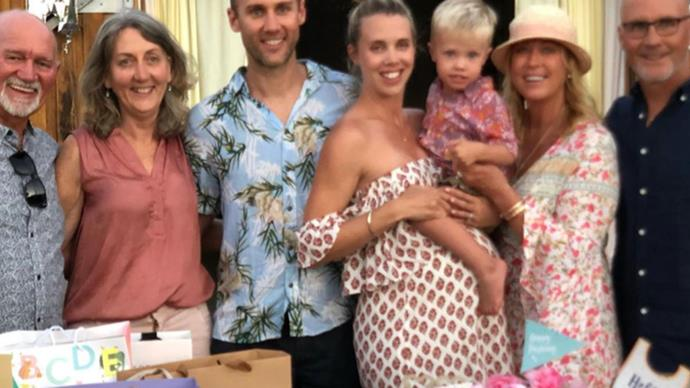 """""""Nearly ready to be a granny again"""": Lisa Curry and Grant Kenny gather to celebrate daughter Morgan Kenny's gender reveal party"""