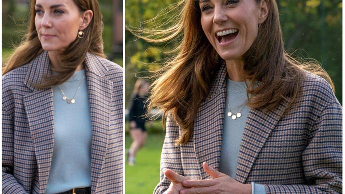 Duchess Catherine wears the perfect transeasonal coat as she shines a light on worthy cause during surprise visit