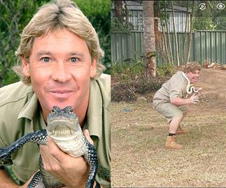"CRIKEY! ""My husband is a Steve Irwin impersonator"""