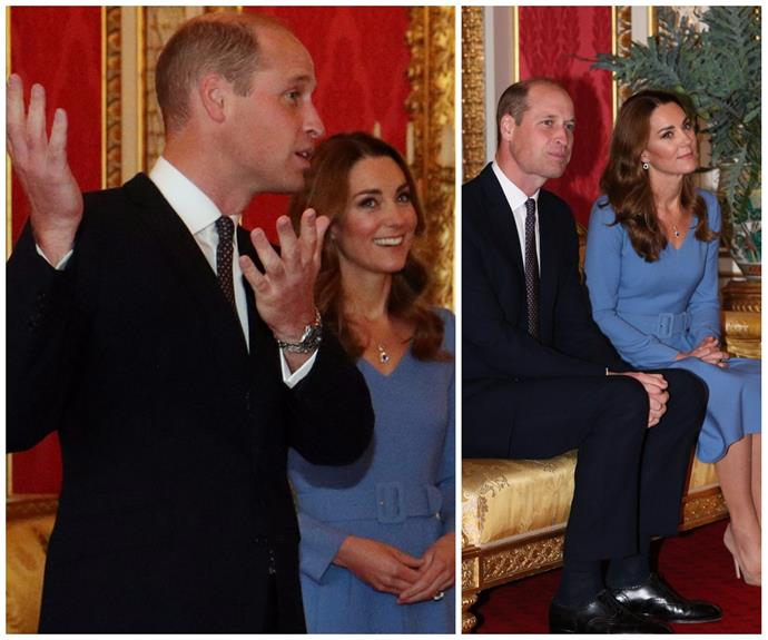 For the first time in seven months, Duchess Catherine & Prince William have welcomed guests back into Buckingham Palace - in some seriously chic threads