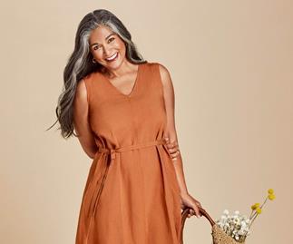 Uniqlo linen dress