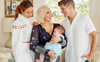"""EXCLUSIVE: """"It's tough!"""" Osher Günsberg talks parenthood as he raises Wolfie and stepdaughter Georgia with wife, Audrey"""