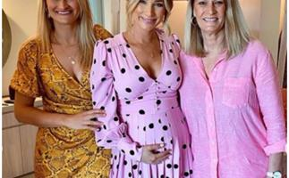 Anna Heinrich's baby shower (and her bright pink maternity dress) is what dreams are made of