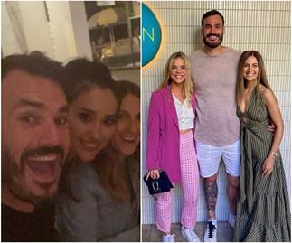 Bachelor poster couple Irena and Locky reunite with cast mates for one last dinner as they leave to start a new life in Perth