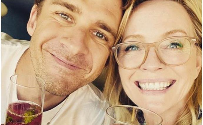 """""""I've loved this boy from the moment I met him"""": Rebecca Gibney pens an emotional tribute to fellow actor Hugh Sheridan after his raw confession about his sexuality"""