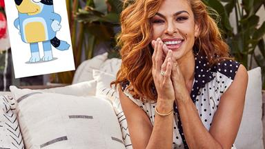 """EXCLUSIVE: """"It's huge in our house!"""" Eva Mendes reveals her two daughters' favourite TV show is Bluey"""