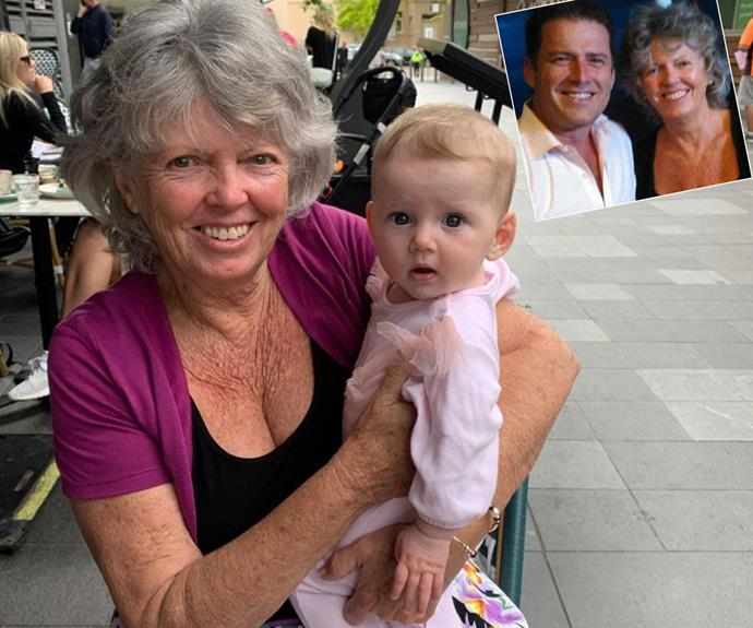"""She's had enough!"" Karl Stefanovic's mother Jenny finally meets baby Harper five months after her birth"