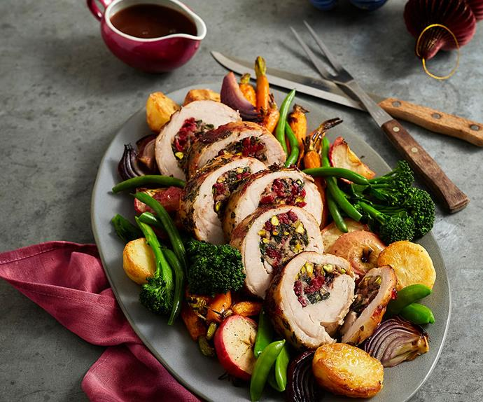 Christmas recipe: Turkey breast with Craisins® and pistachio stuffing