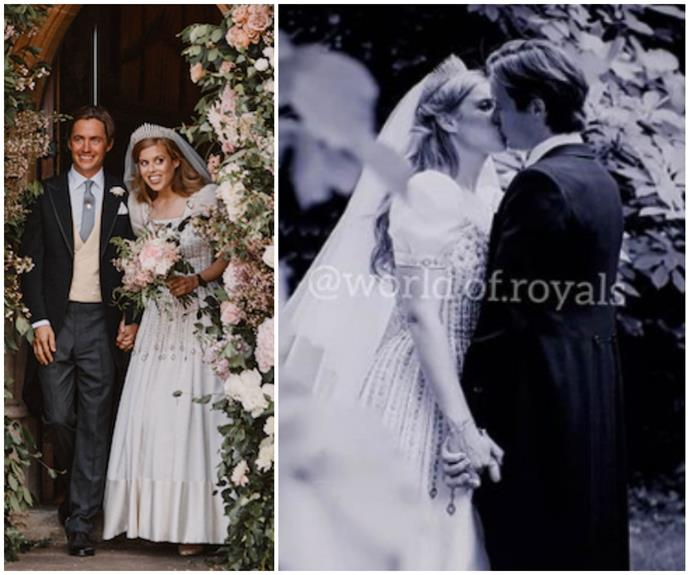 Princess Beatrice and Edoardo Mapelli Mozzi's first kiss as a married couple revealed as another unseen pic from their wedding emerges