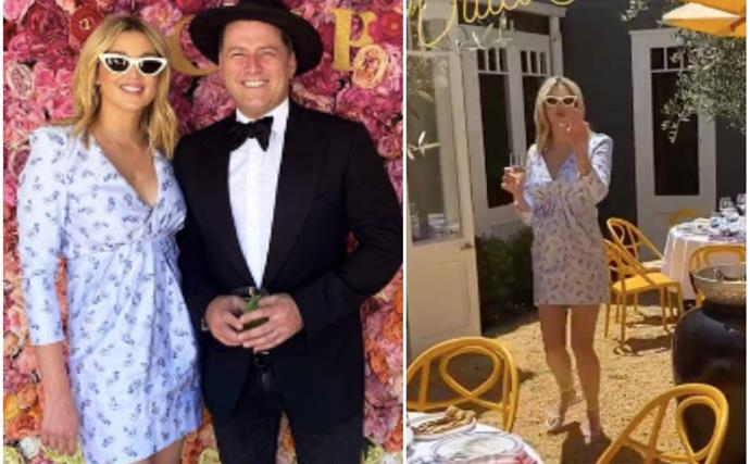 Jasmine & Karl Stefanovic's extravagant Melbourne Cup bash is a sight to behold - not least for their outfits