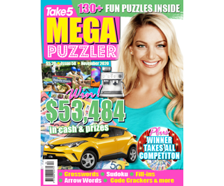 Take 5 Mega Puzzler Issue 58 Online Entry Coupon
