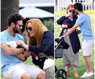 EXCLUSIVE PICS: MAFS stars Jules Robinson & Cam Merchant take their new baby Ollie for a big day out