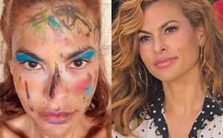 eva mendes lockdown makeup
