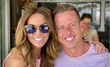 Kyly Clarke and her new beau James Courtney share pics from their first big getaway together - and they've made themselves a couple name