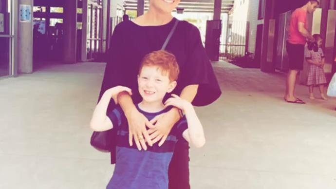 He's all grown up! Home And Away star Emily Symons prepares for her son Henry to start school next year
