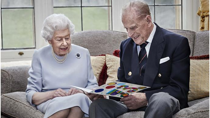 NEW ROYAL PHOTO: The Queen and Prince Philip make a rare appearance for their 73rd wedding anniversary - and there's a very sweet detail