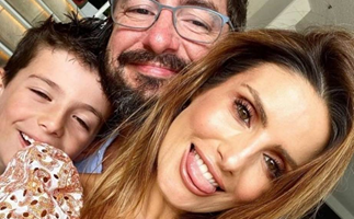 """EXCLUSIVE: """"He's such a great stepdad!"""" Ada Nicodemou opens up about the important role her partner Adam Rigby plays in her son Johnas' life"""
