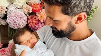 Still good Neighbours! Proud new dad Tim Robards reveals the sweet gift pack his former soapie colleagues have sent daughter Elle