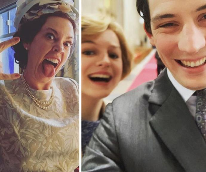 One is most amused! These incredible behind-the-scenes photos from season 4 of The Crown will make you do a double-take