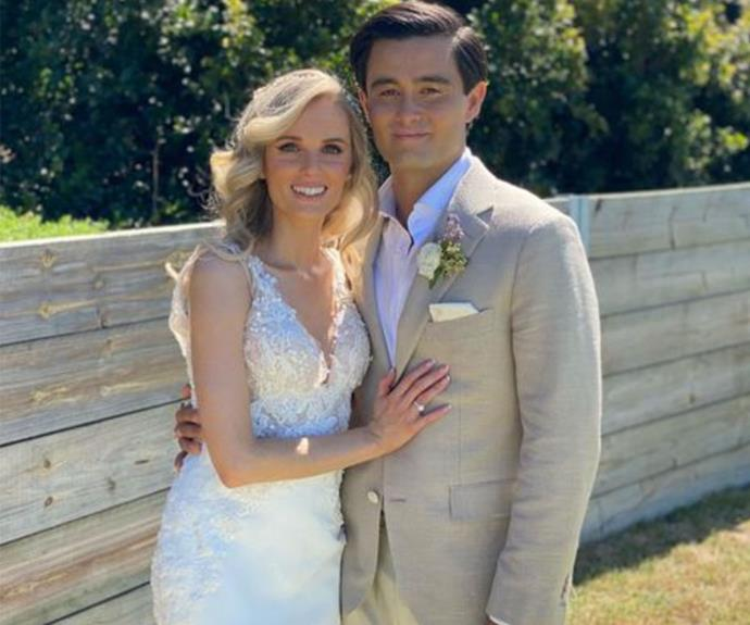 Inside Neighbours star Takaya Honda romantic Byron Bay wedding to partner Amy Schwab