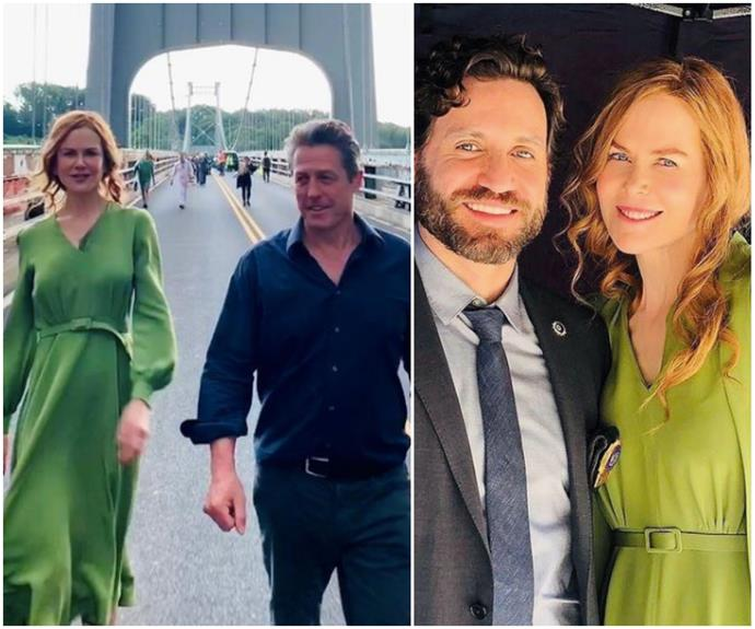 Nicole Kidman shares a series of rare, behind the scenes snaps with Hugh Grant and more from her latest project