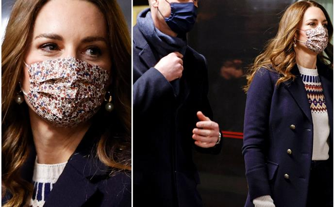 Duchess Catherine rocks no less than three perfect winter outfits on the first day of her royal train tour of the UK