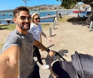 Tim Robards and Anna Heinrich mark a special milestone with their baby daughter Elle