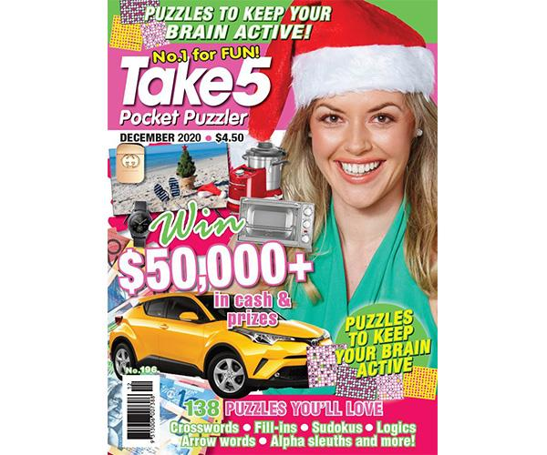 Take 5 Pocket Puzzler Issue 196 Online Entry Coupon
