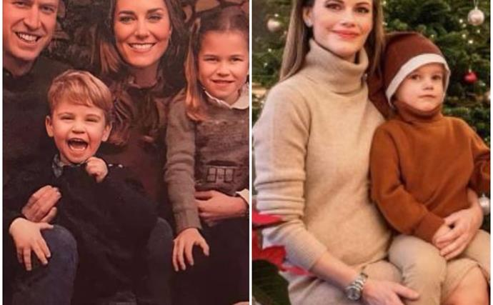 Royal baby bumps and a VERY joyful Louis: The annual royal Christmas card photos are proving a sight to behold