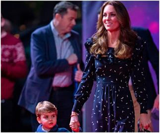 Duchess Catherine wore a brand new dress to her surprise Christmas appearance, but the petal print frock has a history