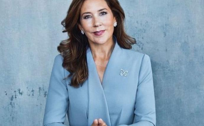 Crown Princess Mary is the picture of regal elegance in her first solo Christmas card