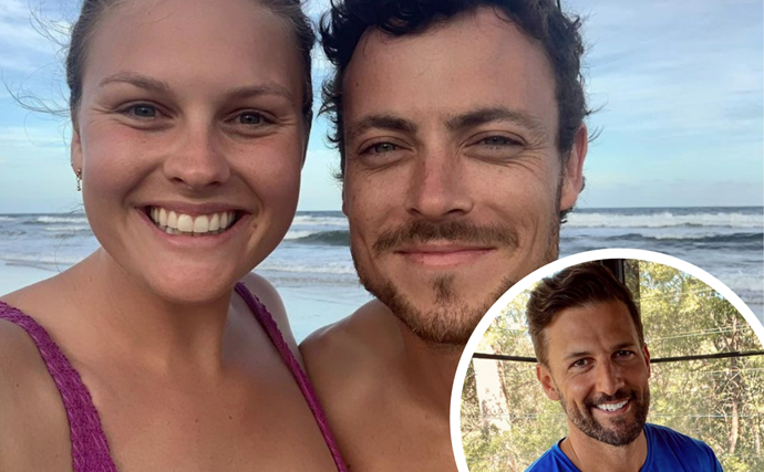 Tim Robards shares first glimpse of his exciting new gig with Home And Away's Patrick O'Connor and Sophie Dillman