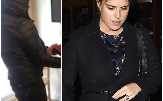 Pregnant Princess Eugenie finds time to share a very special Christmas gift - in camouflage!