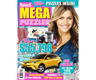 Take 5 Mega Puzzler Issue 60 Online Entry Coupon