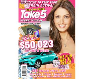 Take 5 Pocket Puzzler Issue 197 Online Entry Coupon