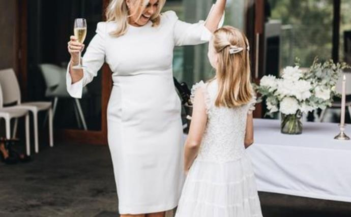 Dancing queen! A never-before-seen new photo from Samantha Armytage's wedding has surfaced